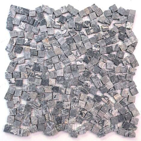 Mosaïque en marbre carrelage sol ou mur Sultan Gris