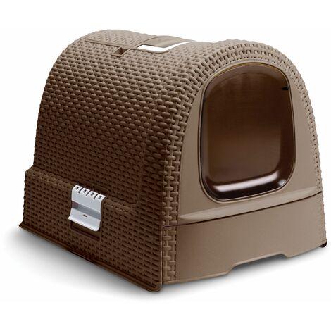 Maison de toilette pour chat CURVER - Moka