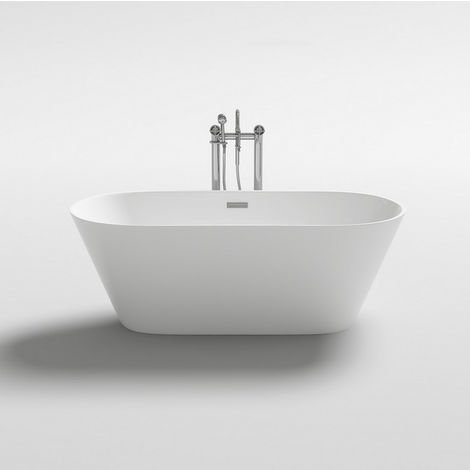 Vasca da bagno 160x80x58h freestanding bianca design moderno centro stanza