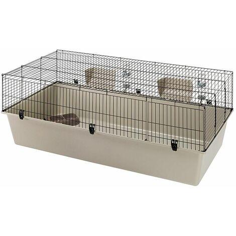 Ferplast RABBIT 160 Cage de grandes dimensions pour plusieurs lapins. Variante RABBIT 160 - Mesures: 156,5 x 77 x h 61,5 cm -