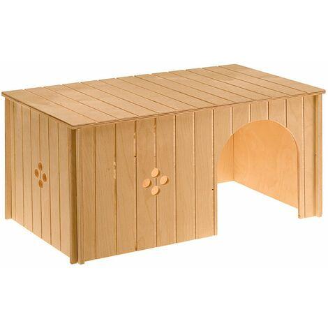 Ferplast SIN MAXI Maisonette pour lapins en bois FSC. Variante SIN MAXI - Mesures: 52 x 31 x h 26 cm -
