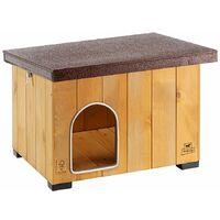 Ferplast BAITA Niche pour chiens en bois de pin nordique FSC - 5 tailles. Variante BAITA 50 - Mesures: 56 x 46,5 x h 41,5 cm -