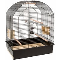 Ferplast GRETA Noir Cage pour perruches et calopsittes. Variante GRETA - Mesures: 69,5 x 44,5 x h 84 cm -