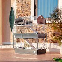 Ferplast BARN 100 DOUBLE Cage à trois étages pour lapins, accessoires inclus.. Variante BARN 100 DOUBLE - Mesures: 95 x 57 x h 121 cm -