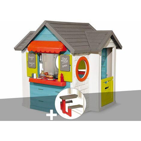 Cabane enfant Smoby Chef House + Table pique nique