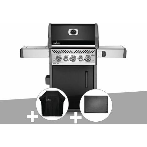 Barbecue à gaz Napoleon Rogue SE 425 SIB noir 3 brûleurs + Housse de protection + Plancha
