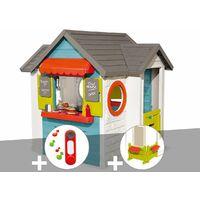 Cabane enfant Smoby Chef House + Sonnette + Espace jardin