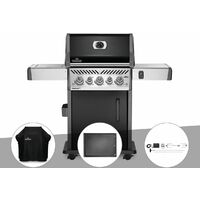 Barbecue à gaz Napoleon Rogue SE 425 SIB noir 3 brûleurs + Housse de protection + Plancha + Rôtissoire