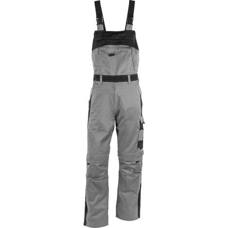 Salopette de travail 100% coton Albatros PROFI LINE Gris / Noir XS