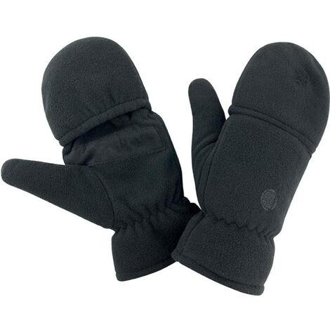 Mitaines-moufles antidérapantes Result POLAIRE Noir S - M
