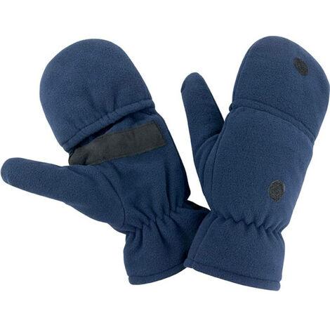 Mitaines-moufles antidérapantes Result POLAIRE Bleu Marine L - XL