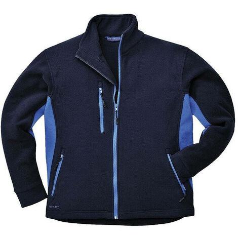 Blouson polaire Portwest Bicolore Texo Bleu Marine Poches Bleues 4XL