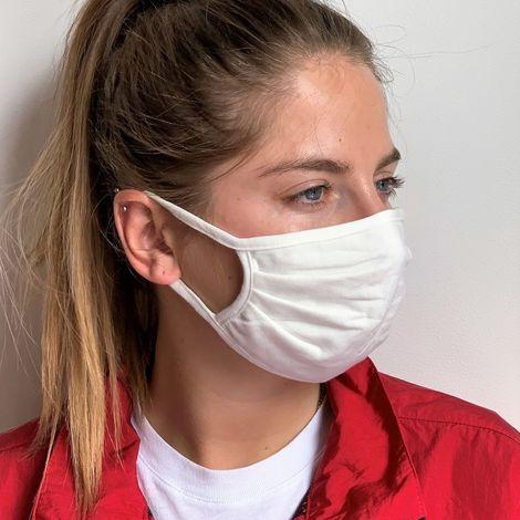 Masque barrière lavable Cat UNS1 JSE Medical | Adulte Unisexe | ADULT (lot de 6) Blanc Unique
