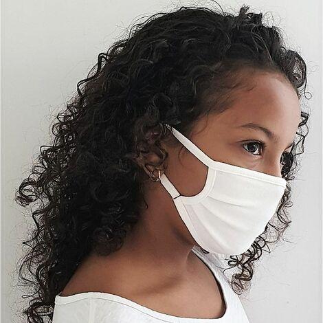 Masque barrière 2 couches JSE Medical Enfant 4-10 ans CHILD (lot de 6) Blanc Unique