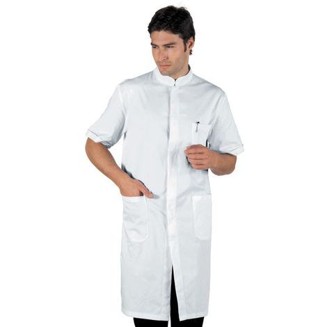 Blouse pharmacie blanche Isacco Davemport manches courtes 100% coton Blanc XXL