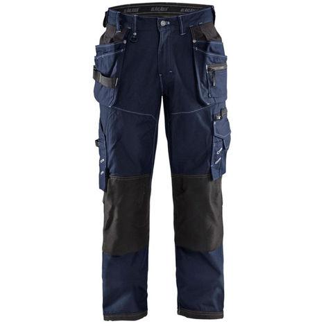 Pantalon de travail artisan Blaklader X1900 cordura nyco Marine Foncé / Noir 44