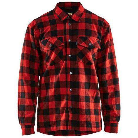 Chemise de travail matelassée Blaklader flannelle doublée Rouge / Noir 3XL