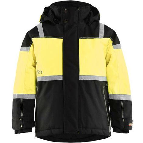 Veste à capuche hiver enfant Blaklader bandes réfléchissantes Noir / Jaune 4 ans