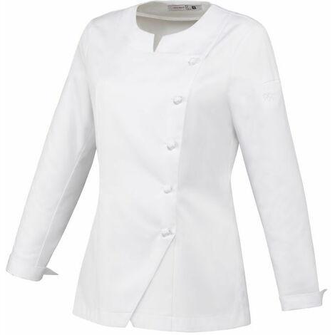 Veste de cuisine femme manches longues Robur Valloire 100% coton Blanc L