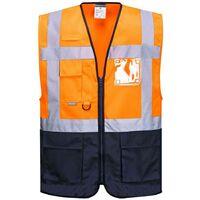 3x Gilet Warnschutz Gilet Sécurité Gilet Orange Taille XL EN ISO 20471