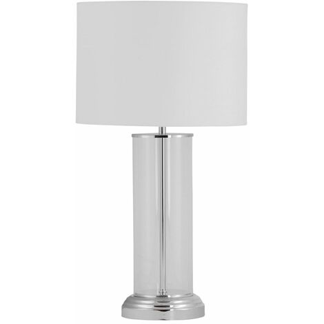Chelmsford - 53cm Column Touch Lamp with White Shade