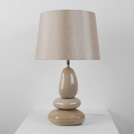 Ceramic 3 Pebble 43cm Lamp