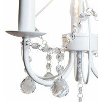 White 3 Light Crystal Chandelier