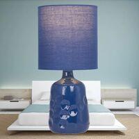 Dimple 29cm Navy Lamp