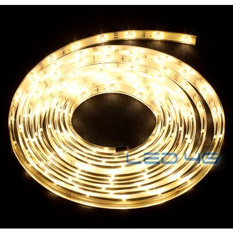 Ruban LED blanc chaud etanche 1, 2 et 5 M (Longueur  : 5 Mètres)