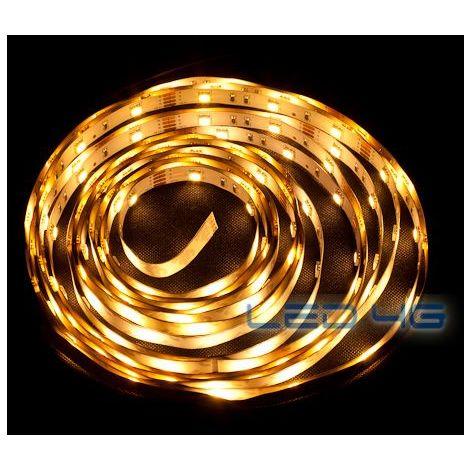 Ruban LED puissant blanc chaud en 1 et 5M - LED 4G (Longueur  : 5 Mètres)