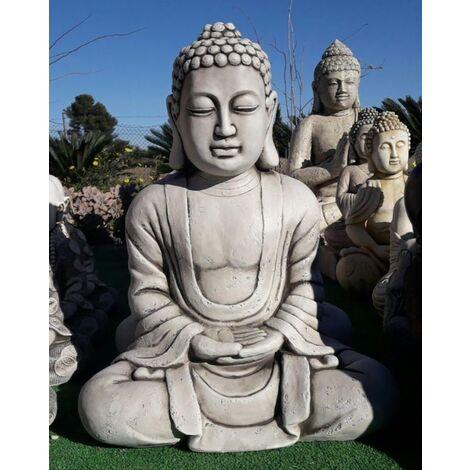 Figura Buda éxito Para El Jardín Decorativa 38cm Hormigón Piedra Musgo