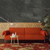 Dalle rigide étanche PVC  Grosfillex GX WALL+ 30x60 BLACK STONE - black stone