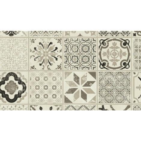 Dalle de sol PVC clipsables - boite de 9 dalles sol vinyle imitation carreau de ciment - 1,67m� - Starfloor Click 30- retro noir et blanc - TARKETT
