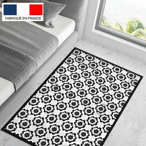 Tapis cuisine en vinyle pvc Tarkett 80x120 pour sol cuisine sous évier ou salle de bains- style carreaux de ciment motif Madrid