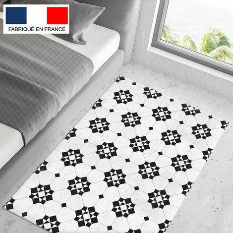 Tapis cuisine en vinyle pvc Tarkett 80x120 pour sol cuisine sous évier ou salle de bains- style carreaux de ciment motif Bilbao