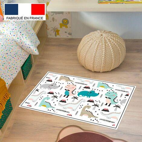 Tapis de jeu en vinyle Tarkett 49,5x83 pour chambre d'enfant - haute qualité non toxique - motif dinosaures