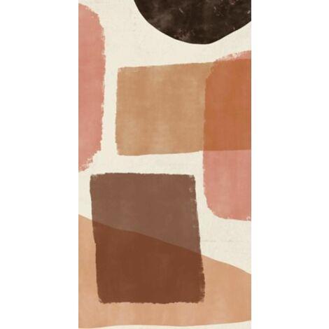 Tapis bohémien en vinyle pvc Tarkett 49,5x109  pour sol cuisine sous évier ou salon salle de bains