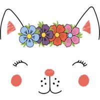 Tapis de jeu en vinyle Tarkett 60x66 pour chambre d'enfant - haute qualité non toxique - motif tête chat couronne