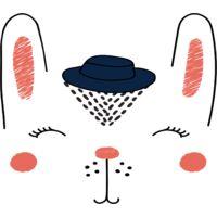 Tapis de jeu en vinyle Tarkett 60x66 pour chambre d'enfant - haute qualité non toxique - motif tête chat chapeau