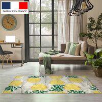 Tapis décoration vinyle Tarkett 80x120 pour salon chambre bureau - style tropical motif ananas