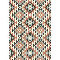 Tapis ethnique en vinyle pvc Tarkett 49,5x109 pour sol cuisine sous évier ou salon salle de bains- style ethnique