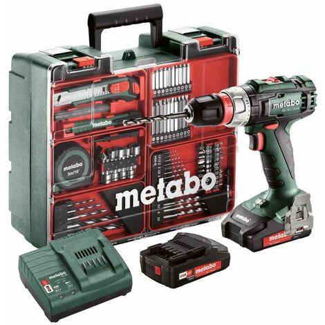 Perceuse visseuse 18V (2x2,0Ah) avec accessoires en coffret - METABO BS 18 (602320870)