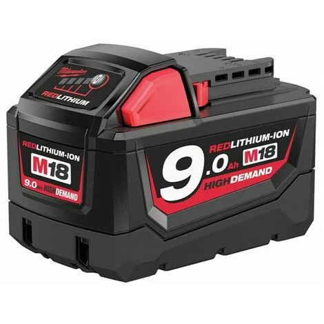 Batterie pour outil sans fil 18V Li-Ion 9,0 Ah M18B9 - MILWAUKEE 4932451245)