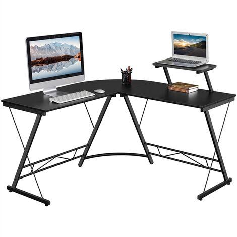 Computertisch Eckschreibtisch Büro Schreibtisch Computer PC Laptop Studie Spieltisch für Home und Office , 130 x 130 x 96,5 cm