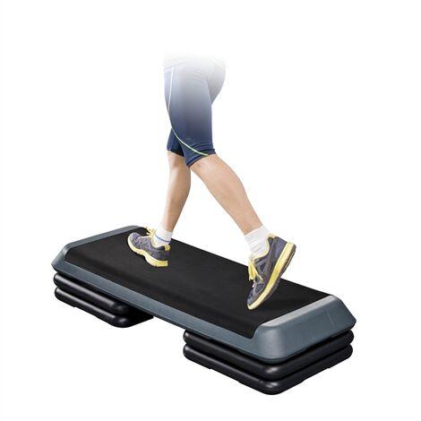 Steppbrett 3 Stufen Aerobic Stepper Fitness Stepbench Trainingsgerät höhenverstellbar Trainingsbrett für Zuhause 11 cm / 16 cm / 21 cm