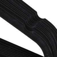Kleiderbügel 50 Stück Anzugbügel mit Rutschfeste Samt Oberfläche Bügel 360°drehbarer Haken, Schwarz