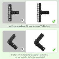 50m Perlschlauch Bewässerungsschlauch Schlauch Gartenschlauch mit Zubehör-Sets 1/2 Zoll