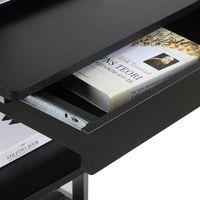 Computertisch Schreibtisch flexible PC Tisch mit Schublade und 4 Rollen, 56 x 51 x 79 cm