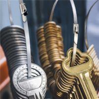 100 Stück kabelbinder Kabelstrapse Stahlband Kabelbinder Edelstahl Hitzeschutzband, 4,6mm x 300mm