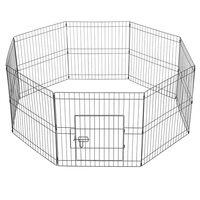 8 Teile Welpenlaufstall Laufgitter Freilaufgehege Welpenzaun für Hund Katze Welpe Kaninchen, je Panel ca. 61 x 61 cm